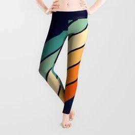 Farida - 70s Vintage Style Retro Stripes Leggings
