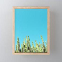Desert Cactus Reaching for the Blue Sky Framed Mini Art Print