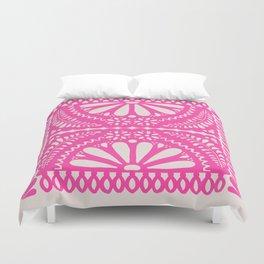 Fiesta de Flores Pink Duvet Cover