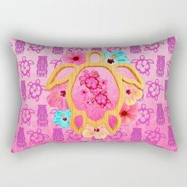 Hawaiian Pink Honu Rectangular Pillow