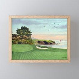Pebble Beach Golf Course 5th Hole Framed Mini Art Print