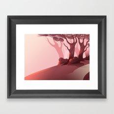 Red (BG Only) Framed Art Print