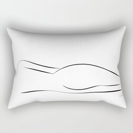 Minimalistic line drawing of a nude woman Rectangular Pillow