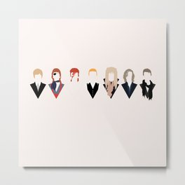Bowie Tribute Metal Print