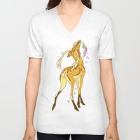 casablanca V-neck T-shirts featuring Casablanca by CanisAlbus