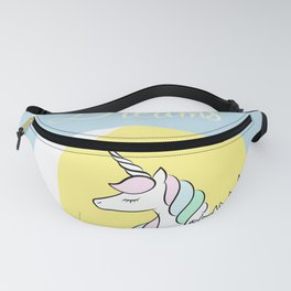 Believe in your dreams - Cute Unicorn in the clouds Fanny Pack