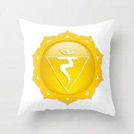 Solar Plexus Symbol Throw Pillow
