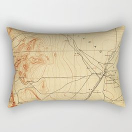 Vintage Map of The Las Vegas Valley NV (1907) Rectangular Pillow