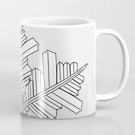 geometric snowflake on the grey Coffee Mug
