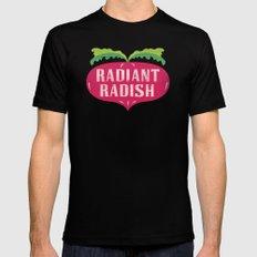 Radiant Radish Mens Fitted Tee Black MEDIUM