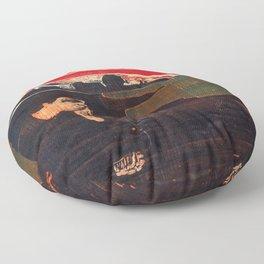 Edvard Munch - Evening. Melancholy - Digital Remastered Edition Floor Pillow