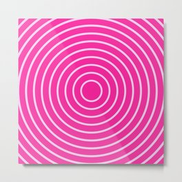 Hot Pink Rings Metal Print