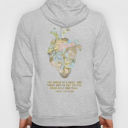 A Traveler's Heart + Quote Hoody