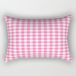 Pink Roses in Anzures 1 Gingham 2 Rectangular Pillow