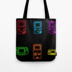 Neon Game Boy History Tote Bag