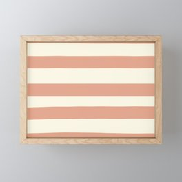 Earthen Trail Pink 4-26 Hand Drawn Fat Horizontal Lines on Dover White 33-6 Framed Mini Art Print