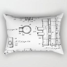 Selmer Trumpet Patent - Trumpet Art - Black And White Rectangular Pillow