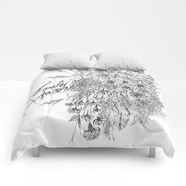Leaf Illustration Comforters