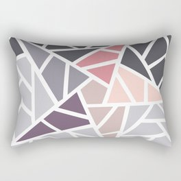 Contemporary Mosaic Star Design Rectangular Pillow