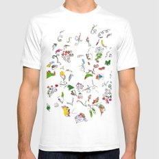 Grape bubbles Mens Fitted Tee White MEDIUM