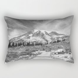 Trail Up Rainier Rectangular Pillow