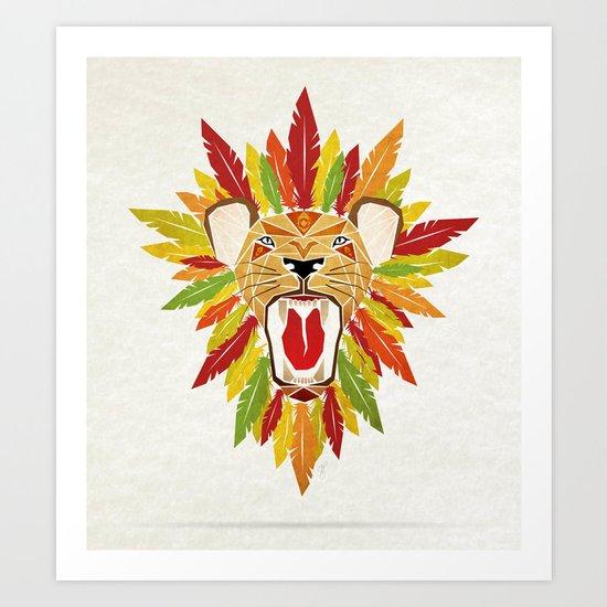 lion feathers Art Print