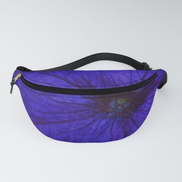 Blue Petunia Flower Macro Watercolor Fanny Pack