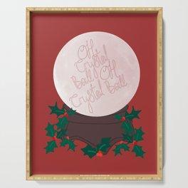 Crystal Ball Christmas Serving Tray