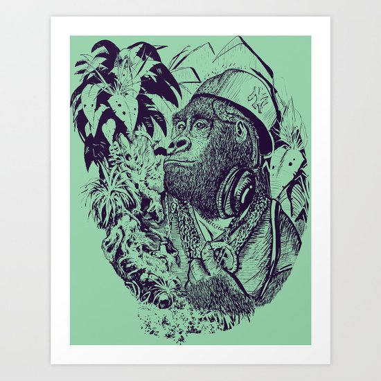 jungle kong Art Print
