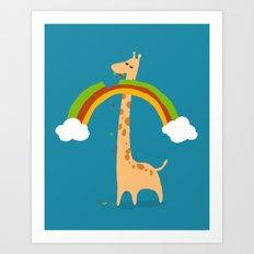 Taste of Happiness Rainbow Art Print