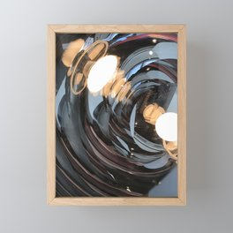 lighting reflects a circle, abstract smooth Framed Mini Art Print