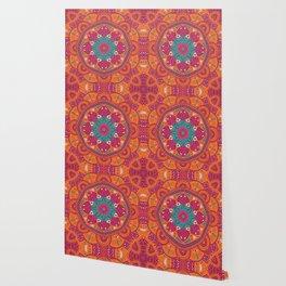 Colorful Mandala Pattern 017 Wallpaper
