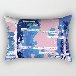 Cafe - Digitally manipulated painting Rectangular Pillow