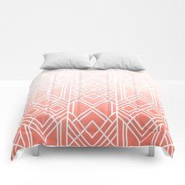 Art Deco Fading Peach Comforters