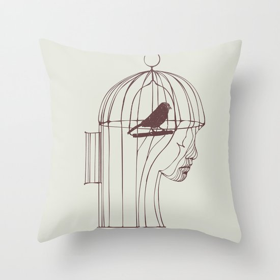 Be Alone Throw Pillow