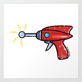 Ray Gun Art Print