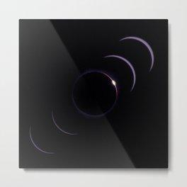 Diamond Ring Eclipse Metal Print