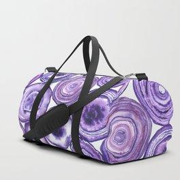 Purple agate pattern watercolor Duffle Bag