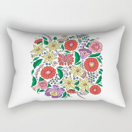 Hungarian embroidery motifs Rectangular Pillow