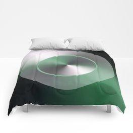 Serene Simple Hub Cap in Green Comforters