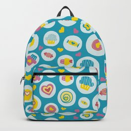 Blue circles sweet love  Backpack