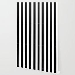 Stripe Black & White Vertical Wallpaper