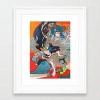 barachan Framed Art Prints featuring hyeolyeon by barachan