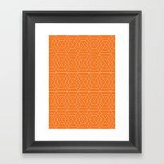 orange hex Framed Art Print