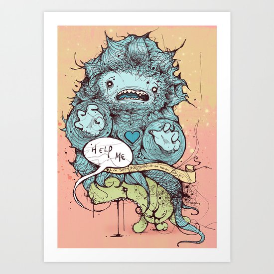 Sorry, but there is no heaven for you Art Print