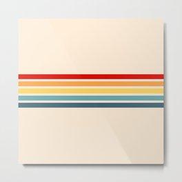 Takaakira - Classic Rainbow Retro Stripes Metal Print