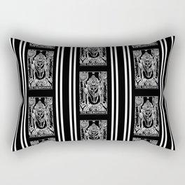 Black and White Tarot Print - The Hierophant Rectangular Pillow