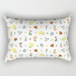 Flowers and More Flowers Rectangular Pillow