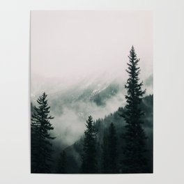 Over the Mountains and trough the Woods -  Forest Nature Photography Poster