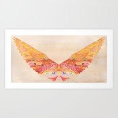 Waxy wings Art Print